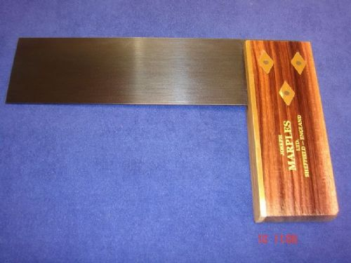 "Joseph Marples Rosewood Carpenters Try Square 152mm 6"" Brass Sheffield 19A"